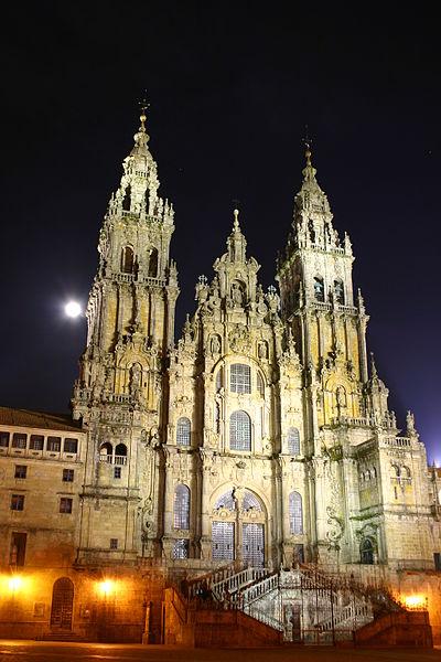400px-Santiago.de.Compostela.Catedral.Noche